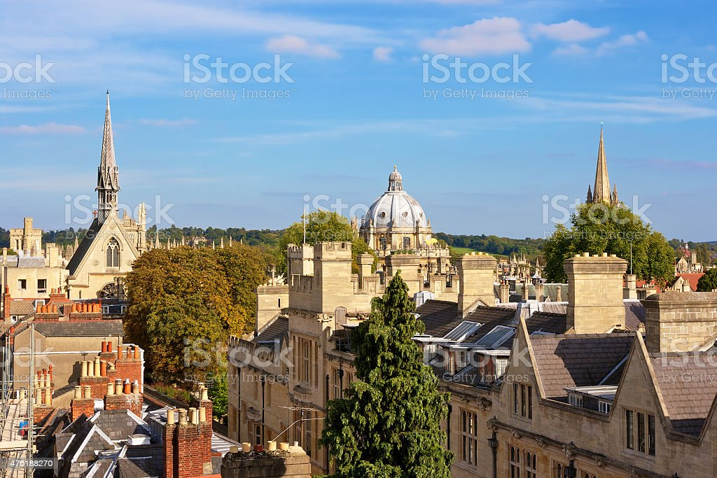 Above Oxford. England stock photo