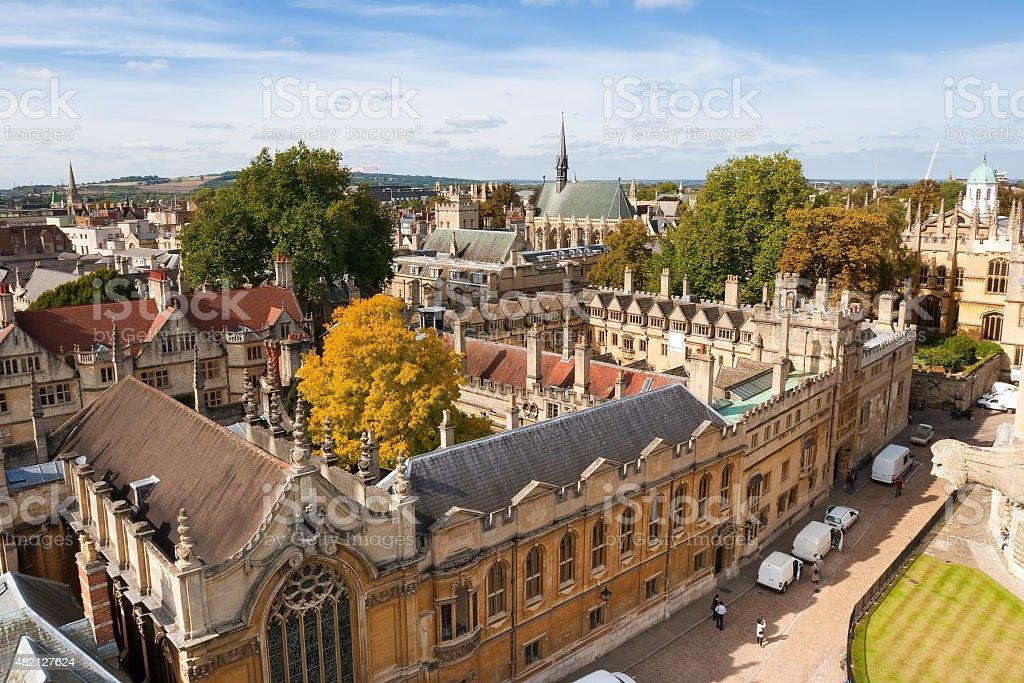 Above Oxford. England stock photo