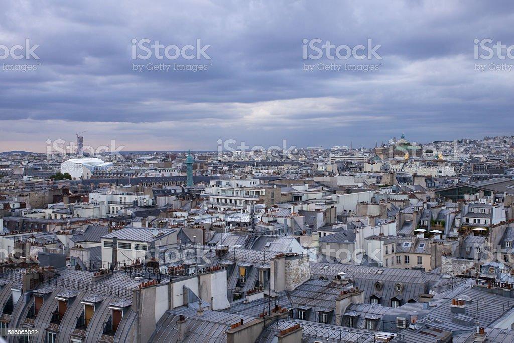 Above Paris stock photo