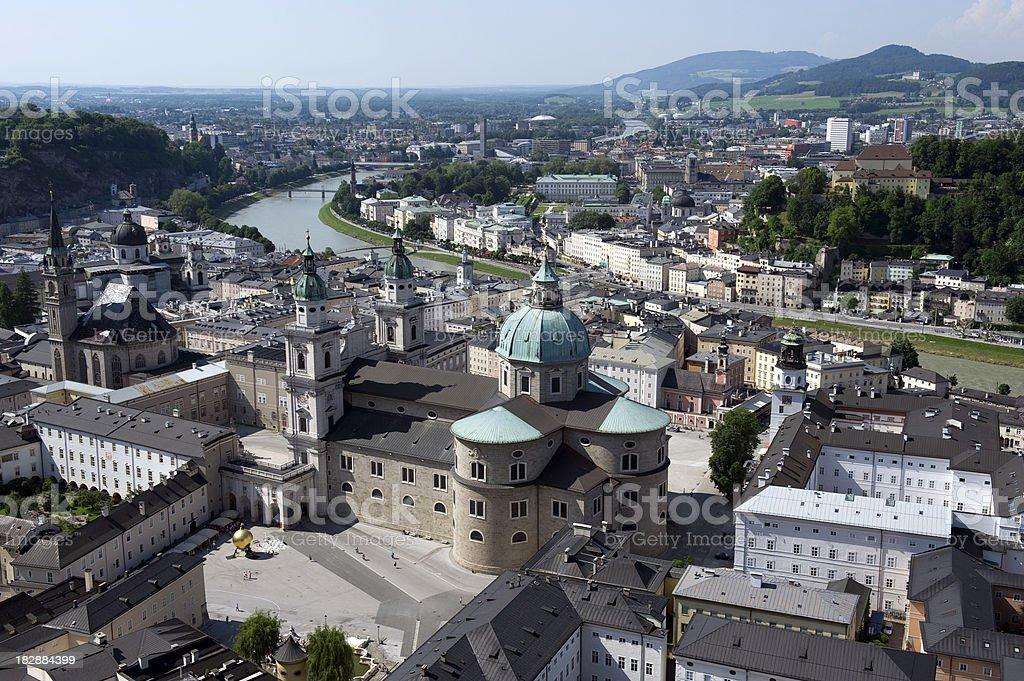 Above Salzburg royalty-free stock photo
