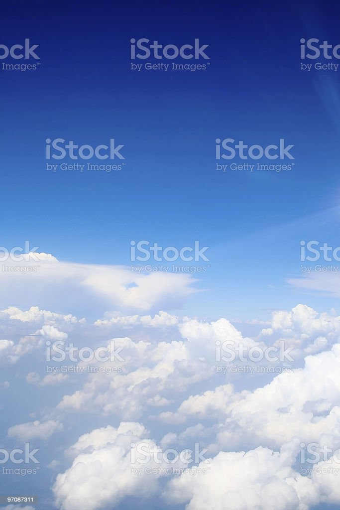 Above the clouds, altitude picture royalty-free stock photo