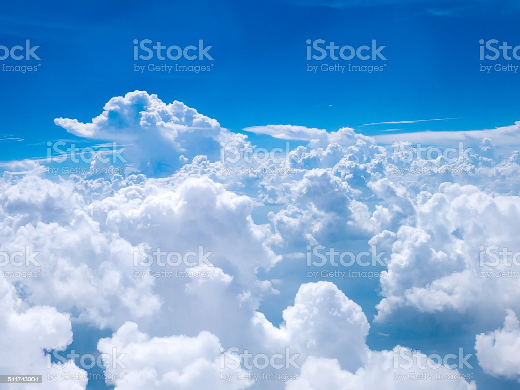 Above the Clouds is Clear Blue Sky stock photo