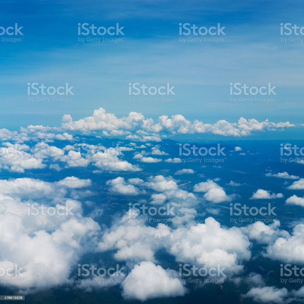 Above the clouds stock photo