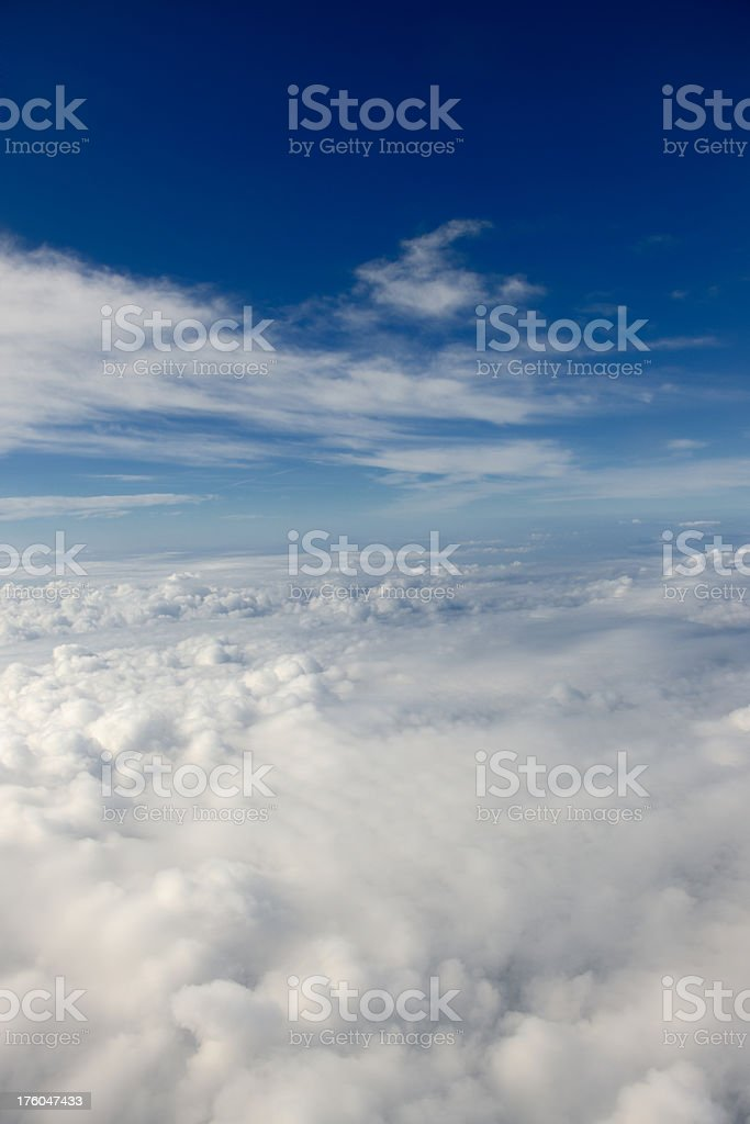 Above the clouds - Sky Background (XXXL) royalty-free stock photo