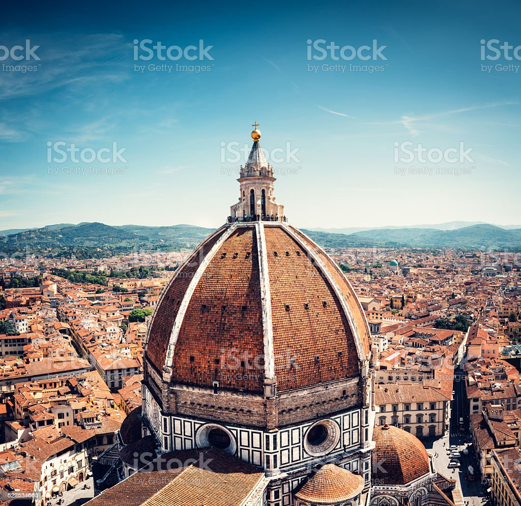 Above The Duomo In Florence stock photo