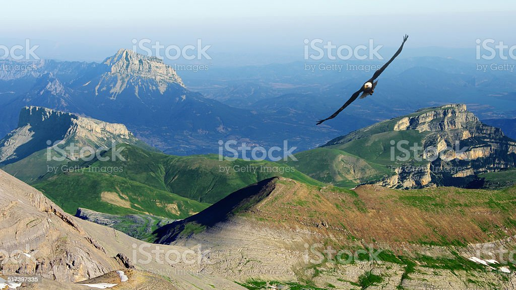 above the mountains stock photo