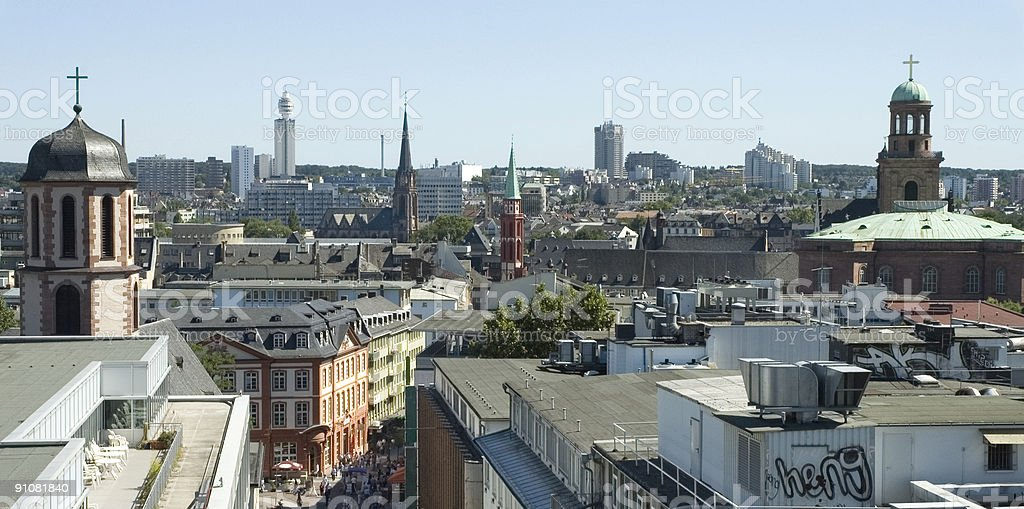 Above the Roofs of Frankfurt royalty-free stock photo