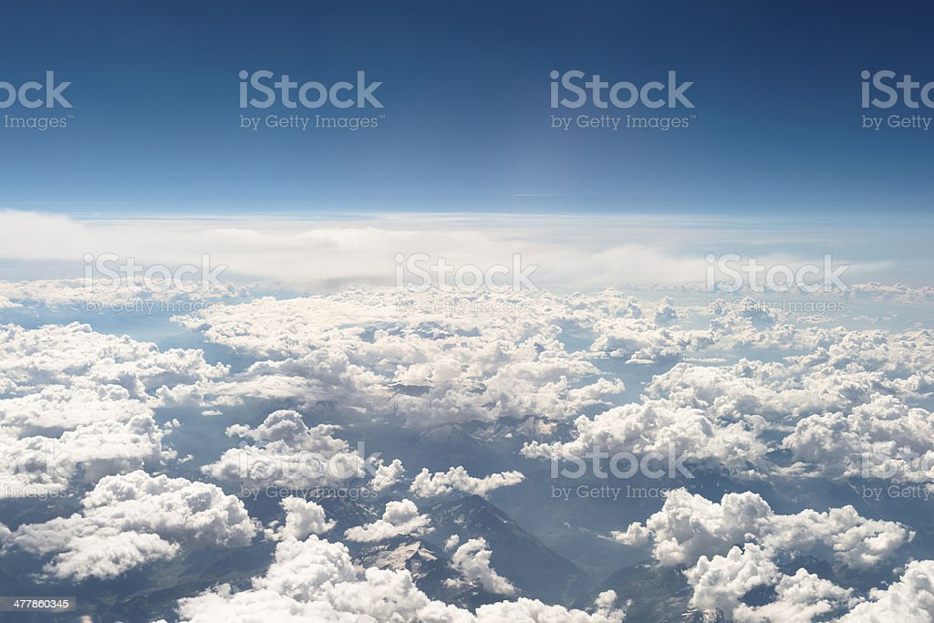Above the sky royalty-free stock photo