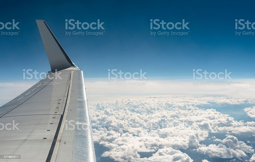 Above the sky with jet royalty-free stock photo