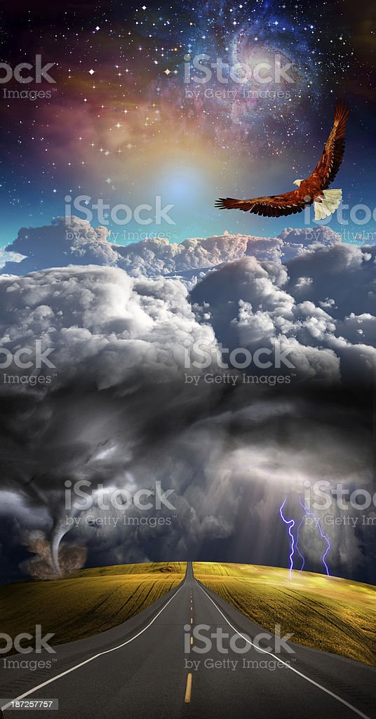 Above the storm stock photo