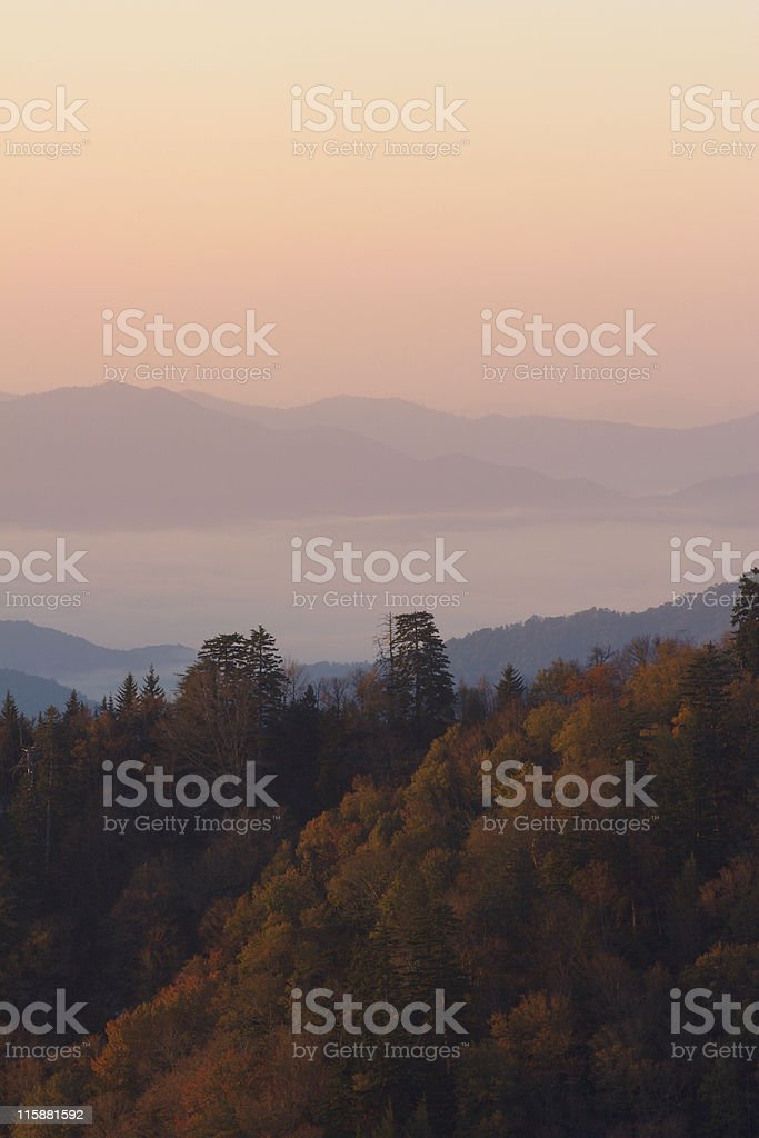 Above the Sunrise Autumn Clouds stock photo