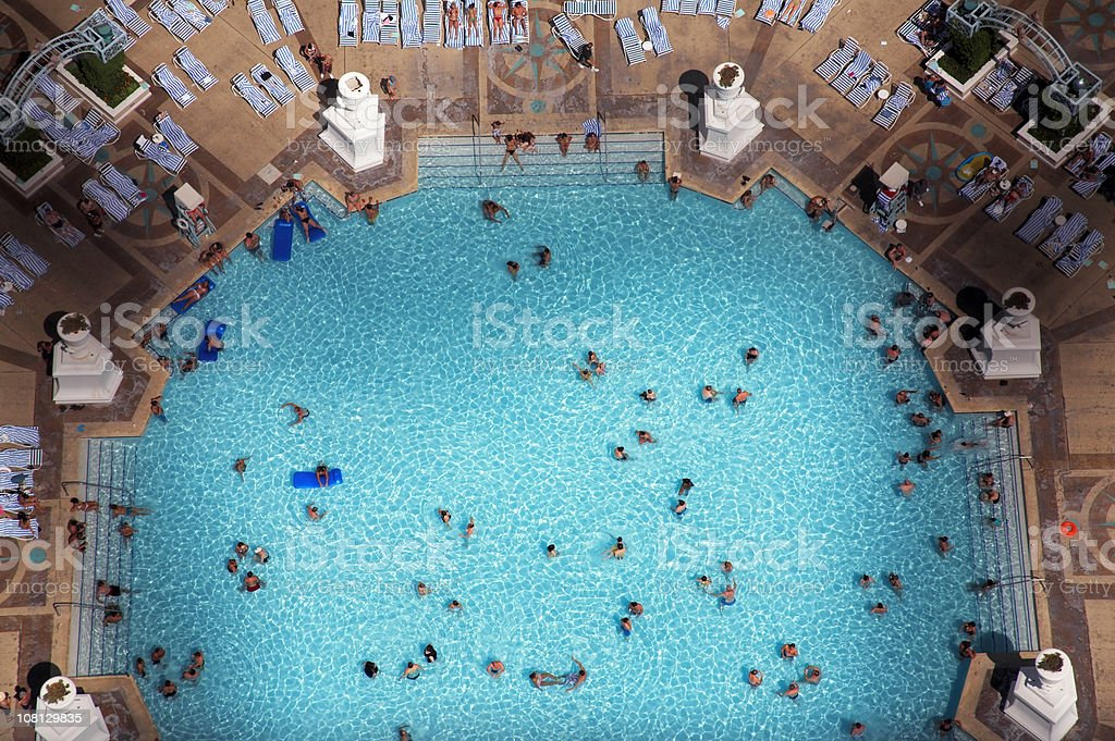 Above the Swimming Pool royalty-free stock photo