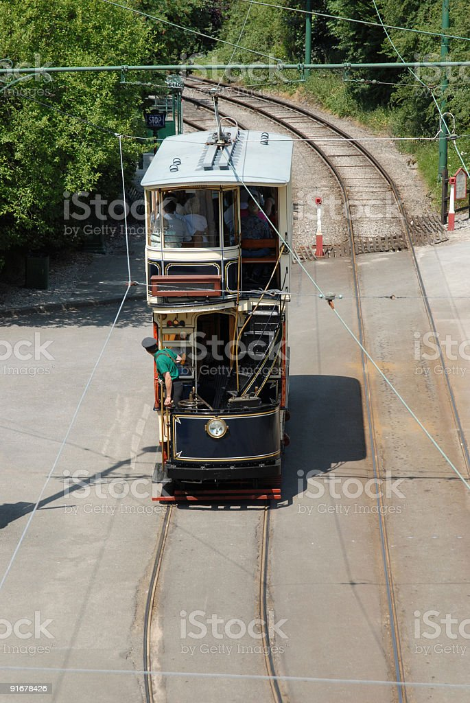 Above the tram royalty-free stock photo