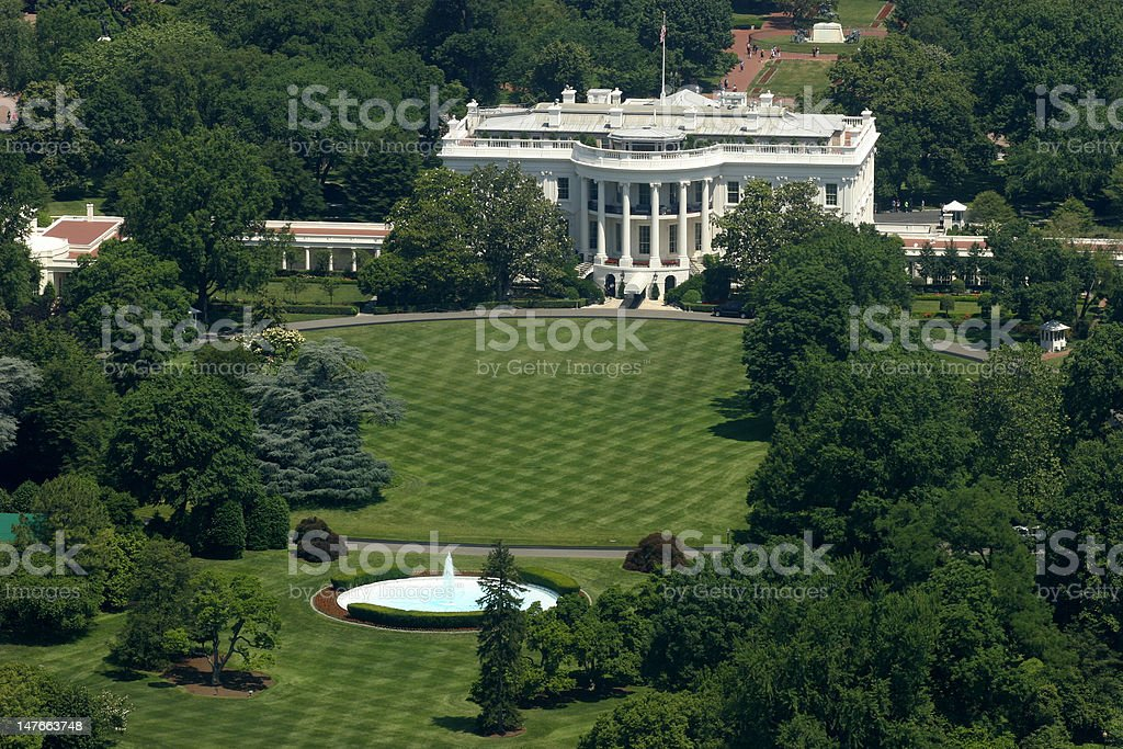 Above the White House 2 royalty-free stock photo