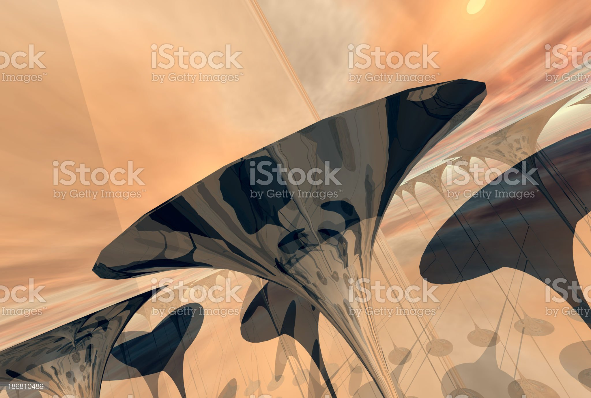 Above trumpets 05 royalty-free stock photo