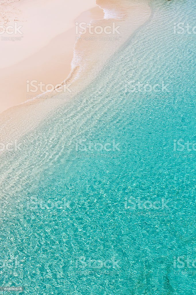 above view at anguilla beach stock photo