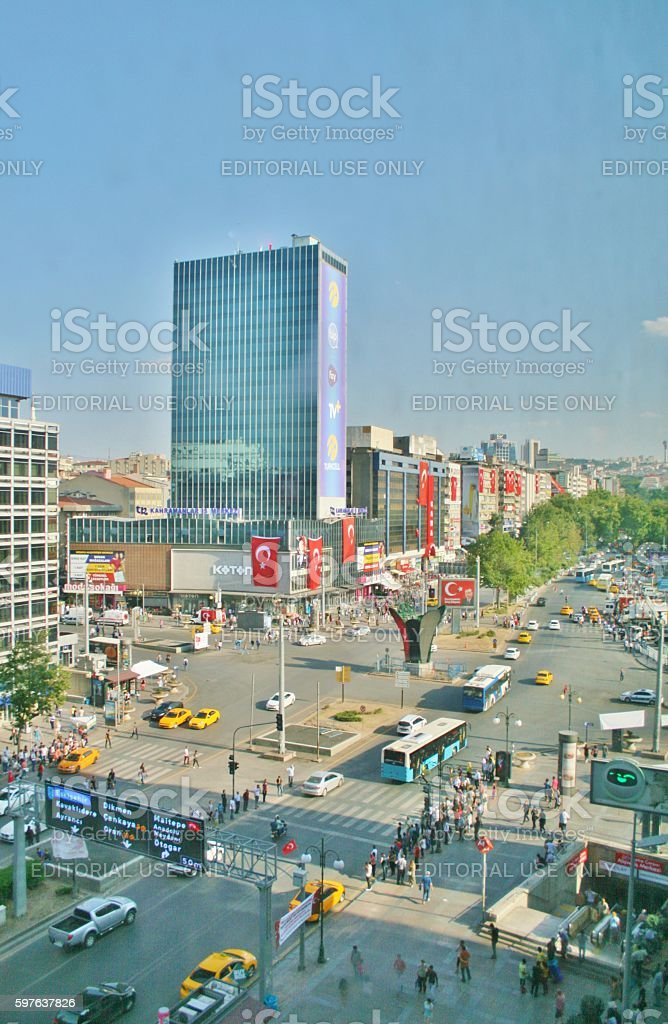 Above view from kizilay square stock photo