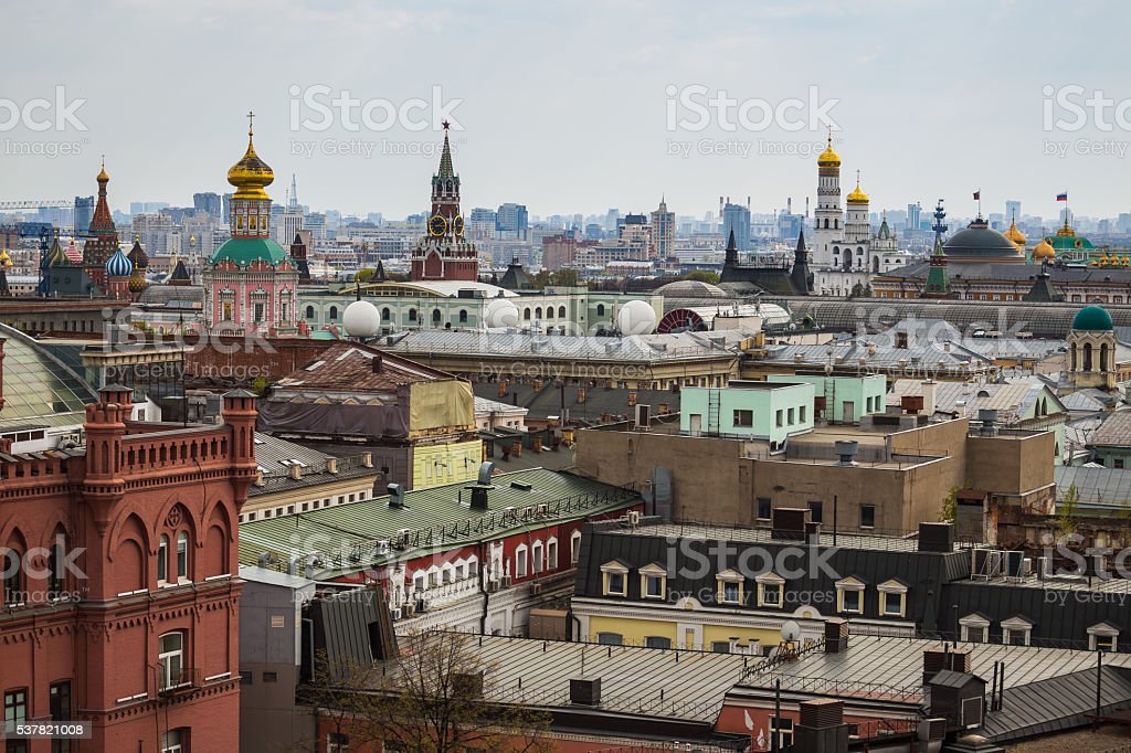 Above view from observation deck in Central Children's World on stock photo