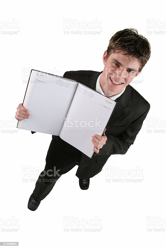 Above view of businessman royalty-free stock photo
