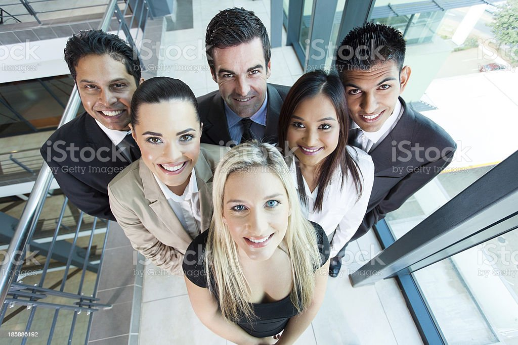 above view of group business team royalty-free stock photo
