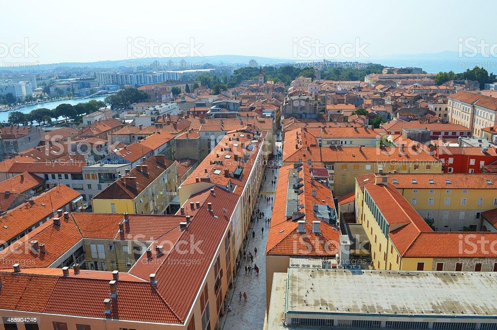 Anteriormente zadar en Croacia foto de stock libre de derechos