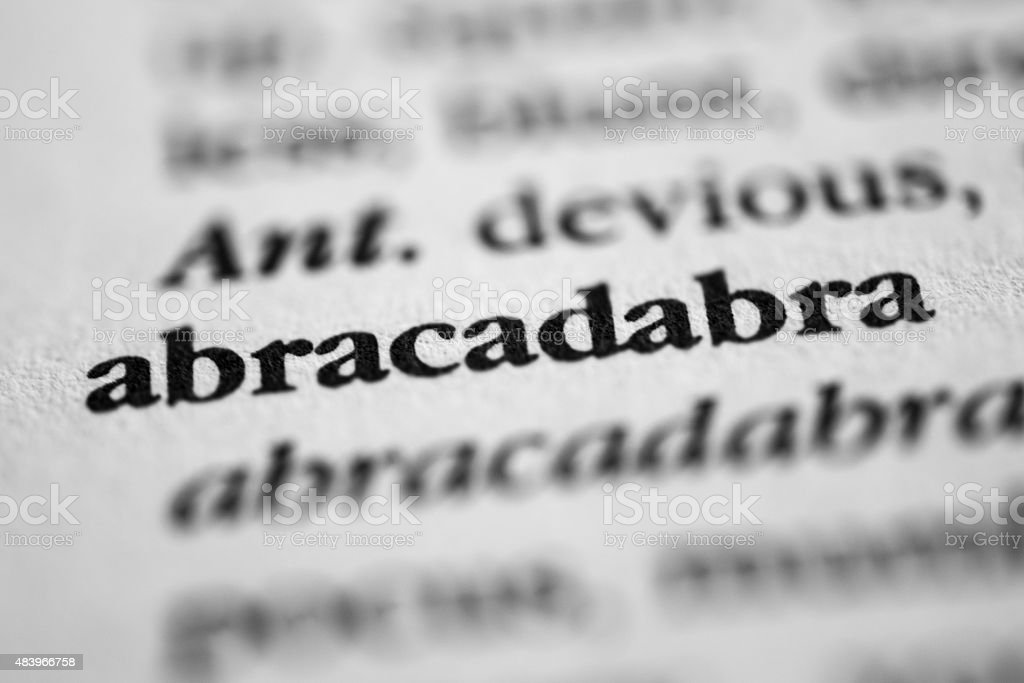 Abracadabra stock photo