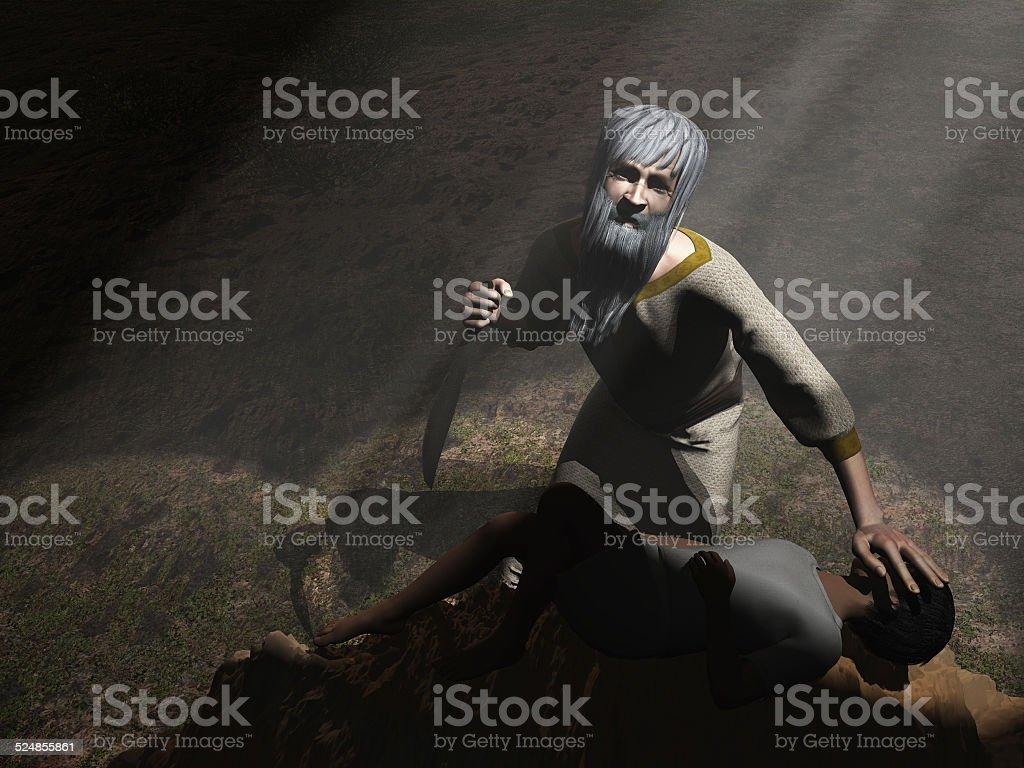 Abraham and Isaac stock photo