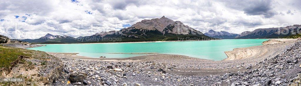 Abraham Lake in July, Alberta, Canada stock photo