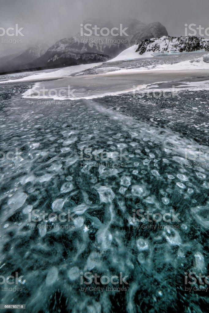 Abraham Lake - Nordegg, Alberta, Canada stock photo