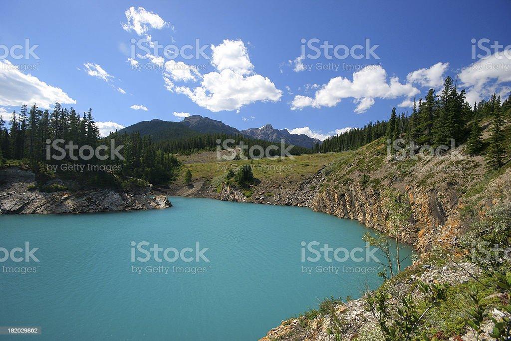 Abraham Lake royalty-free stock photo