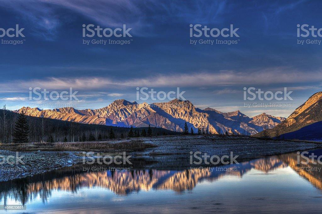 Abraham Lake stock photo
