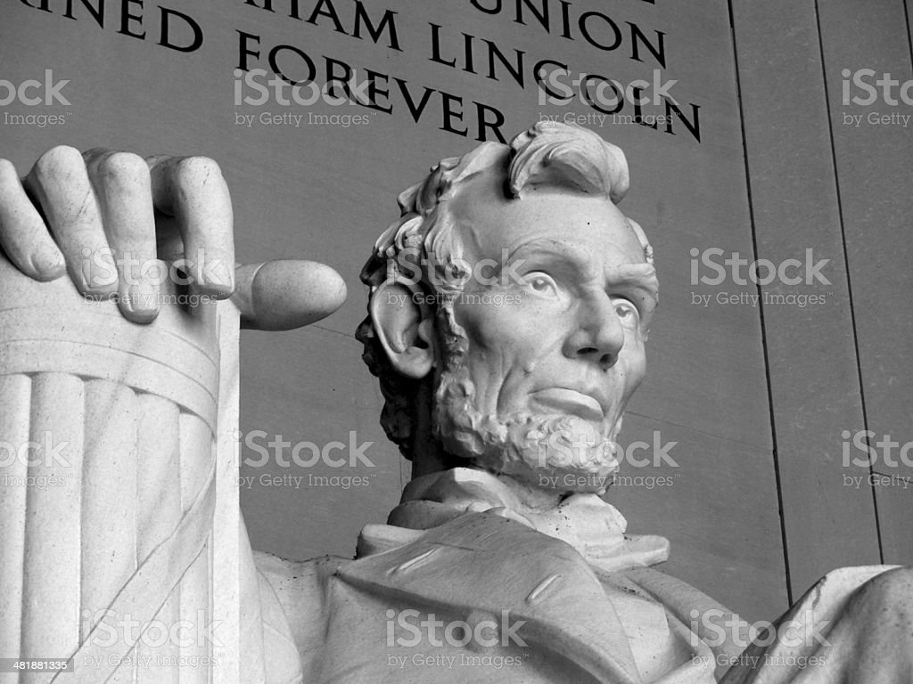 Abraham Lincoln - Lincoln Memorial in Washington DC stock photo