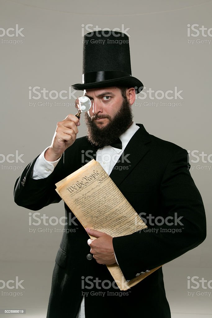 Abraham Lincoln Look Alike stock photo