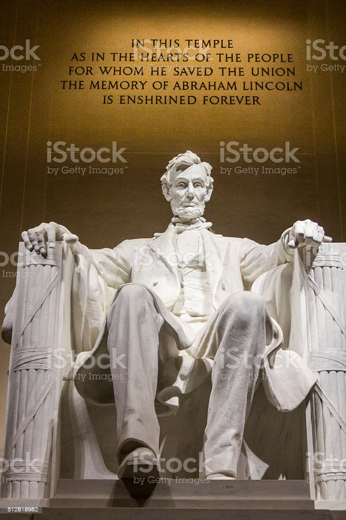 Abraham Lincoln Memorial in DC stock photo