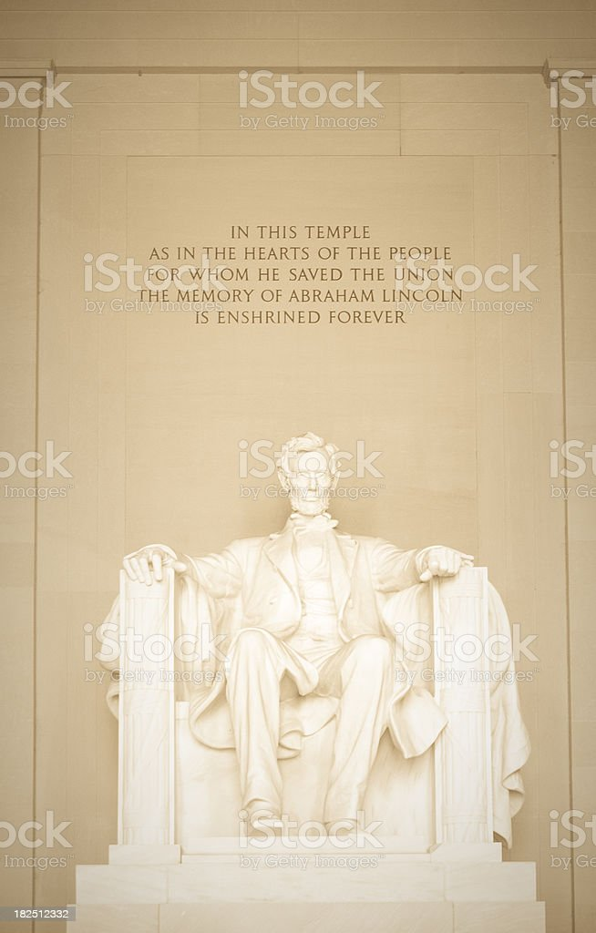 Abraham Lincoln Memorial stock photo