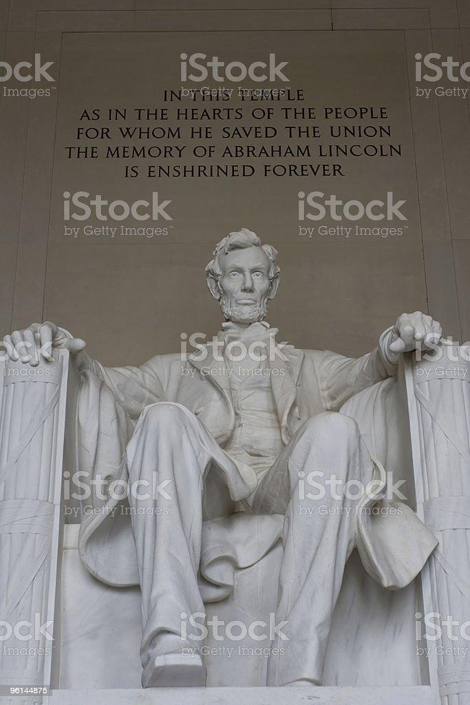 Abraham Lincoln Memorial royalty-free stock photo