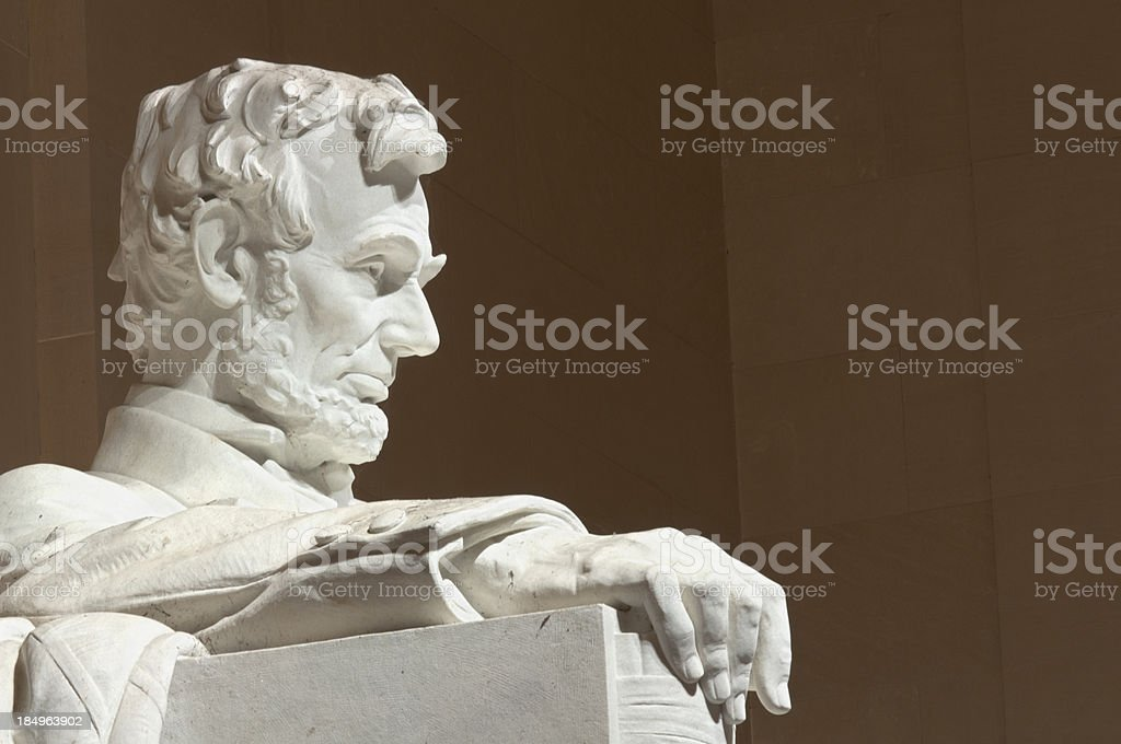 Abraham Lincoln Memorial Profile stock photo
