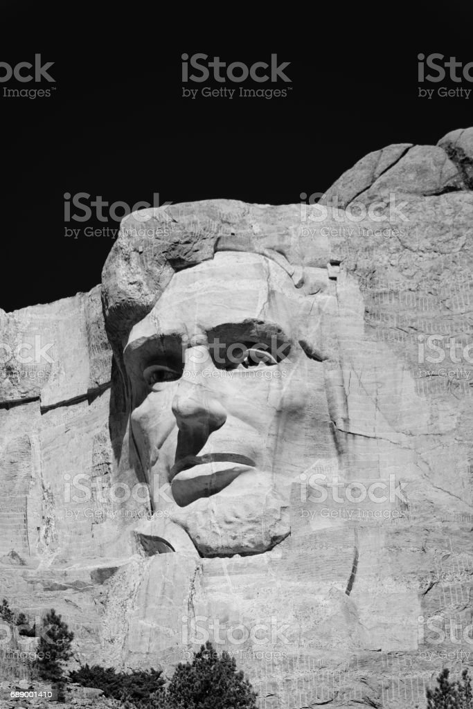 Abraham Lincoln, Mount Rushmore National Monument stock photo