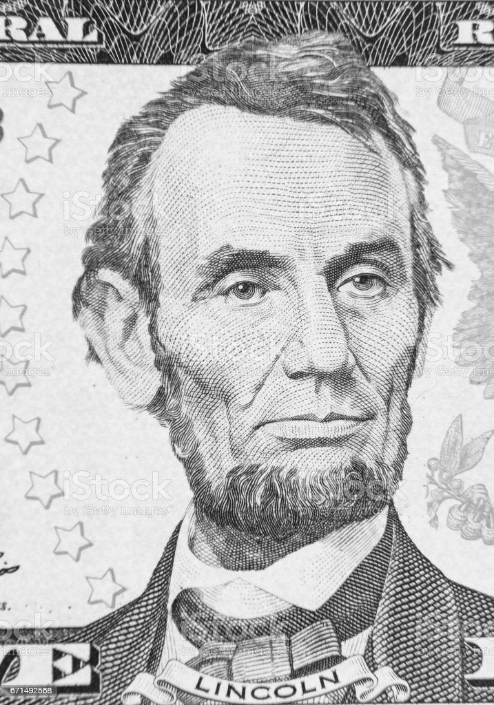 Abraham Lincoln stock photo