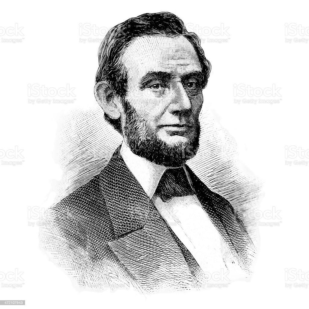 Abraham Lincoln Portrait royalty-free stock photo