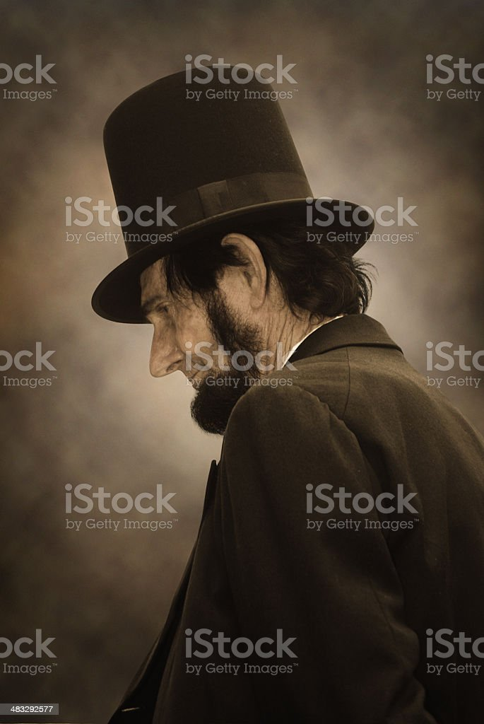 Abraham Lincoln Profile stock photo