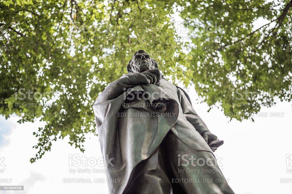 Abraham Lincoln sculpture, Manhattan, New York City, United States stock photo