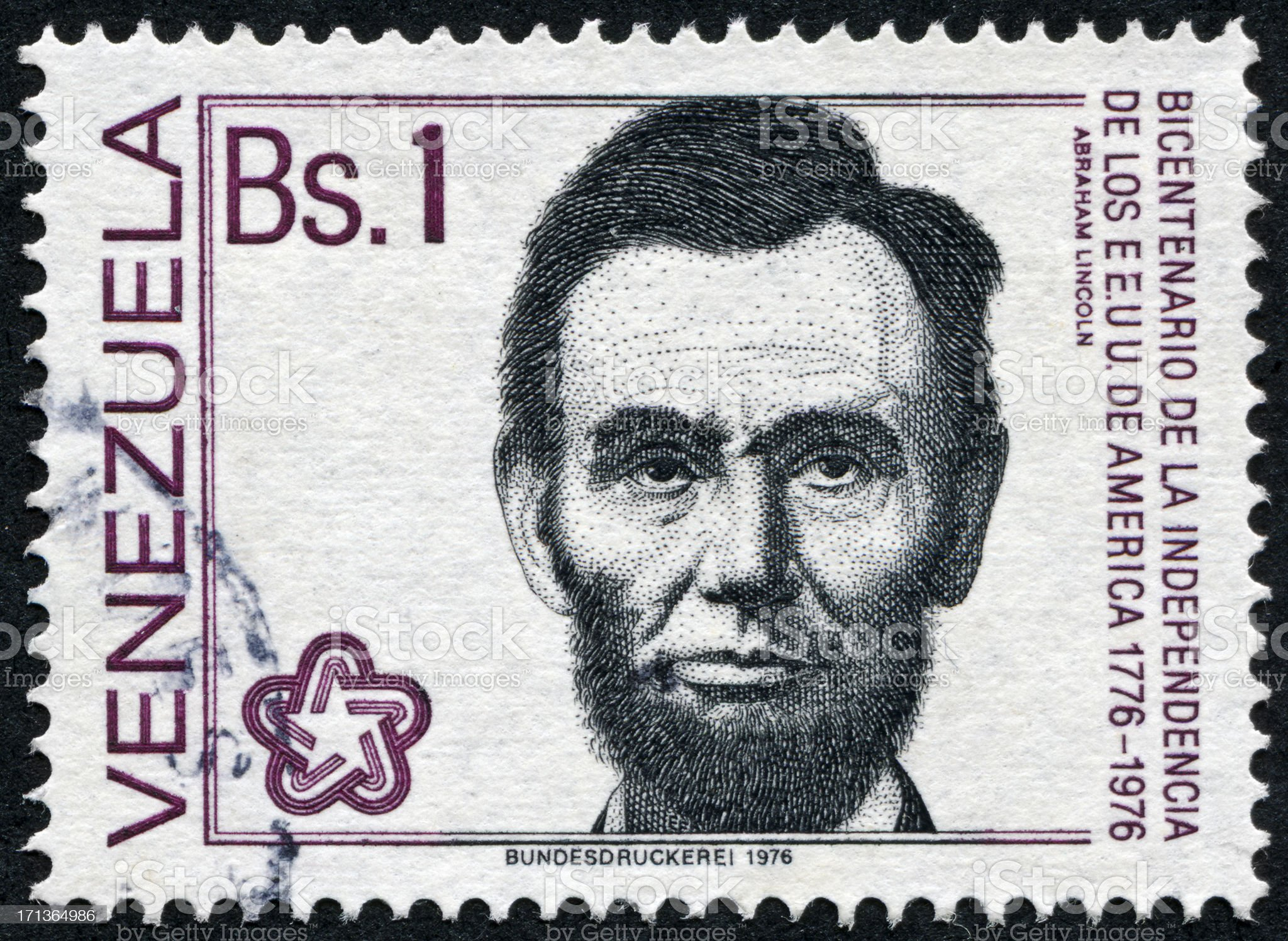 Abraham Lincoln Stamp royalty-free stock photo