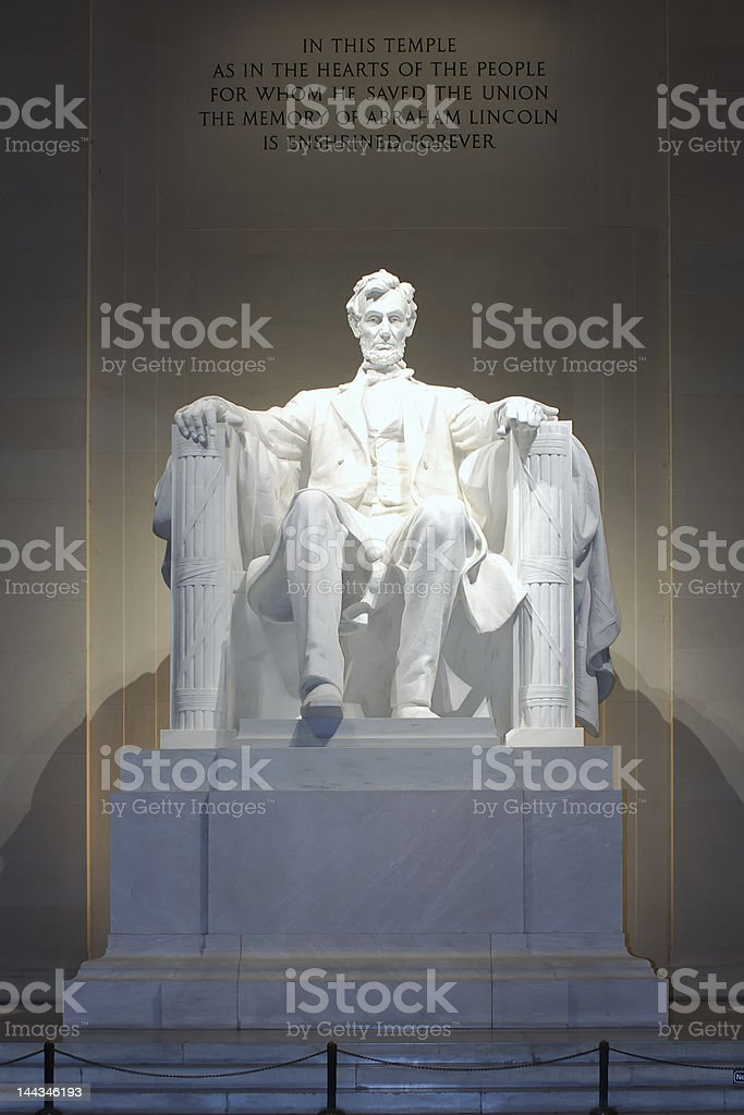 Abraham Lincoln Statue royalty-free stock photo