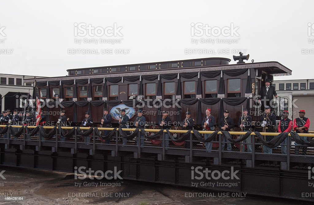 Abraham Lincoln's Funeral Railroad Car stock photo