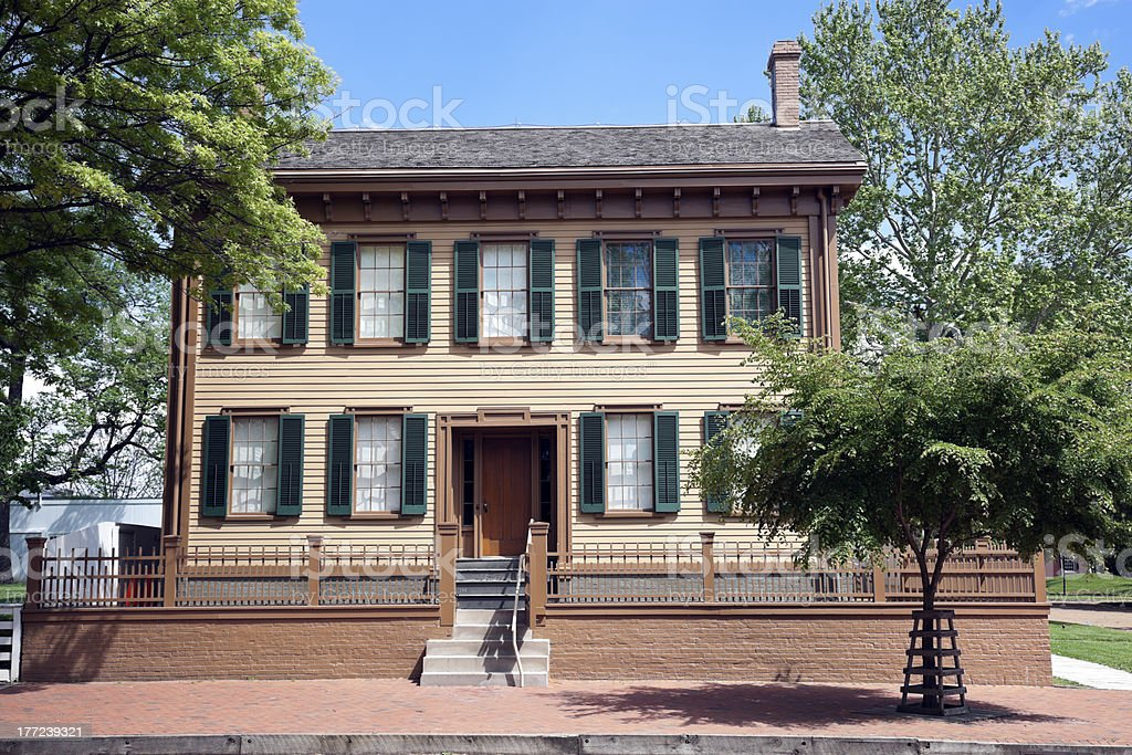 Abraham Lincoln's House stock photo