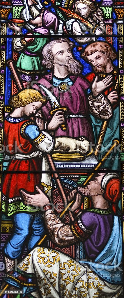Abraham Stained Glass Window stock photo