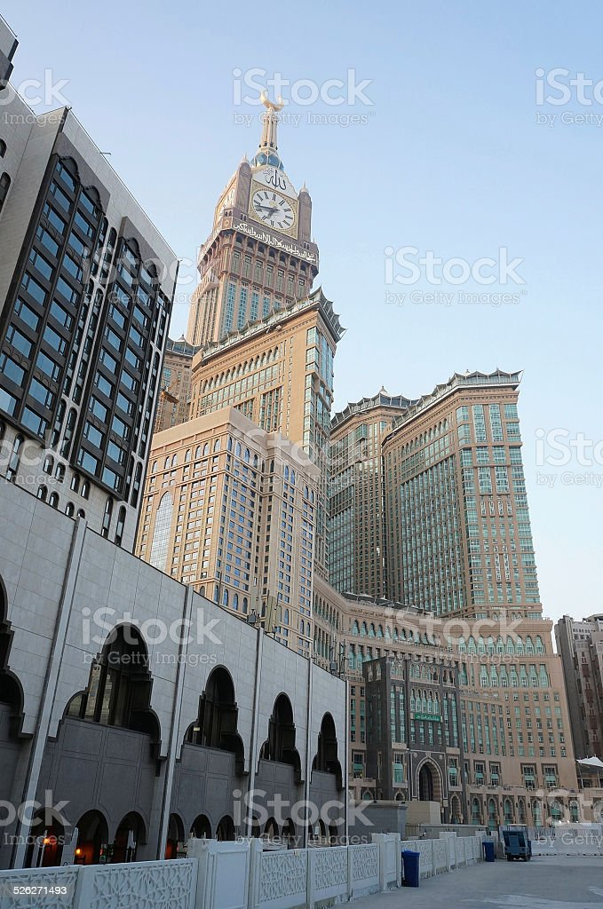 Abraj Al Bait (Royal Clock Tower Makkah) stock photo