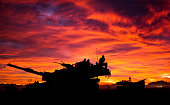 MIA1 Abrams Tank at Sunset