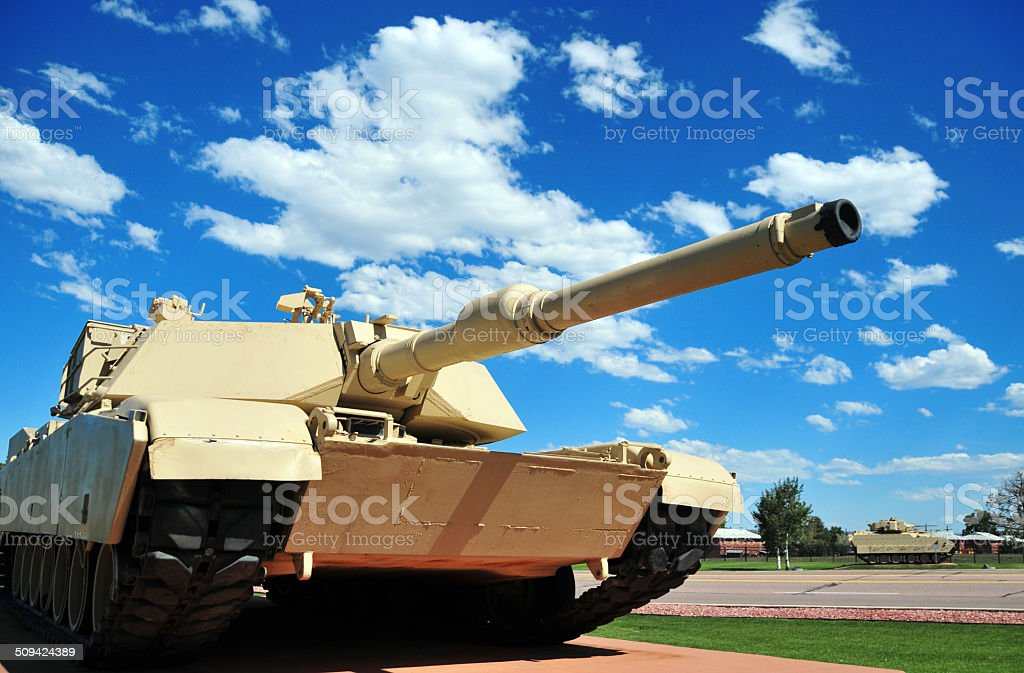 M1 Abrams tank stock photo